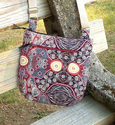 Aboriginal Design Cross Body Bag Shoulder Bag by AprilNineDesigns