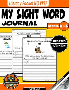 Updated 11/28/2016 7amThis Journal Writing Workbook Includes: * 55 Journal Pages*55 Words Total (Level A)(* a * all * am * and * away * be * big * blue * but * can * come * did * down *find * for * funny * go * good * he * help * here * I * in * is * it * like * little * look * make * me *my * no * not * on * one * play * ran * red * run * said * see * so * that * the * three * to * two * up * was * we * what * where * yellow * yes * you).