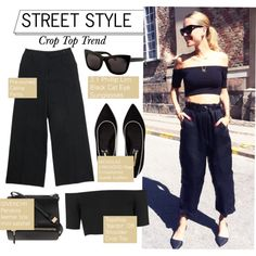 How To Wear Street Style-Crop Top Trend Outfit Idea 2017 - Fashion Trends Ready To Wear For Plus Size, Curvy Women Over 20, 30, 40, 50
