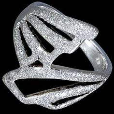 Silver ring, butterfly Silver ring, Ag 925/1000 - sterling silver. A stylish ring with butterfly wings design. Satin finish surface. Very interesting design, can be worn separately or with other rings.