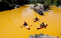 EPA responsible for massive wastewater spill into the Animas River in Colorado...including arsenic, lead, copper, aluminum and cadmium...now moving to the Grand Canyon...3 times bigger than originally reported!!