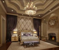 Gorgeous, elegant bedroom- Charles Neal Interiors