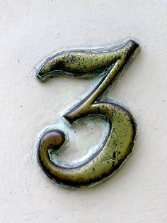 started drawing this. I love the texture and the way it is slightly rusty What's Your Number, Number Art, Typography Fonts, Lettering, Letter Photography, Lucky Number, More Followers, Alphabet And Numbers, Letter Art