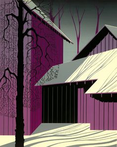 Amethyst - Eyvind Earle -  Eyvind Earle was an American artist, author and illustrator, noted for his contribution to the background illustration and styling of Disney animated films in the 1950s.   Born: April 26, 1916, New York City  Died: July 20, 2000