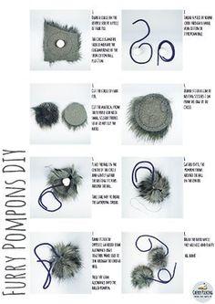 Furry Pompons DIY - English