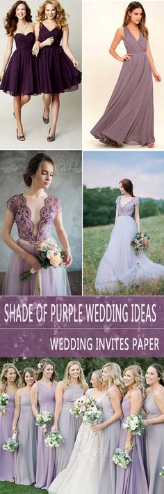 2018 BRIDES FAVORITE WEEDING COLOR: STYLISH SHADE OF PURPLE - Wedding Invites Paper