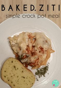 Forget to take something out for dinner tonight? No problem! This easy crock pot meal of baked ziti will be simple and quick. Enjoy a great meal tonight with the family!