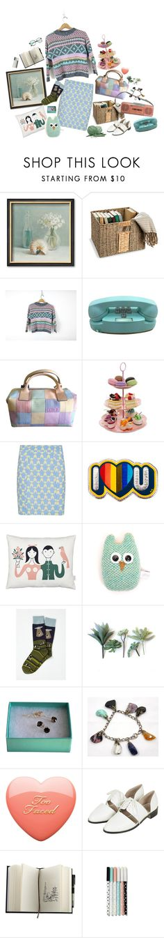 """""""Pastel sewer"""" by araneus ❤ liked on Polyvore featuring Improvements, Dooney & Bourke, Sugarhill Boutique, Anya Hindmarch, Vitra, Catherine Tough, Tiffany & Co. and Topshop"""