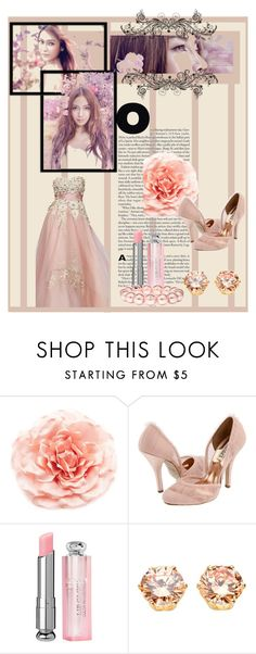 """""""Flower Fairy"""" by shinee-pearly ❤ liked on Polyvore featuring MOOD, Badgley Mischka, Christian Dior and Jon Richard"""