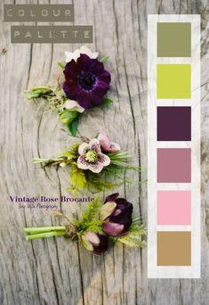 Colour Palette - perhaps for a work room, colour palette, colour scheme, inspiration, idea Colour Pallette, Color Palate, Colour Schemes, Color Combos, Color Patterns, Deco Violet, Pantone, Design Seeds, Colour Board