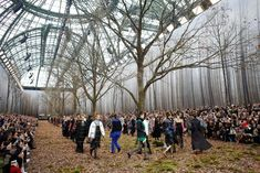 The art of preserving codes at Chanel AW18 show.