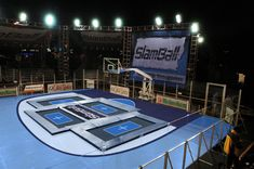 slamball... so wish i could do this it would be so fun i could finally dunk..... because im so short.