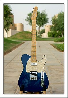 Warmoth 'Telecaster' -A self build from Warmoth parts. Cream bound swamp ash body, birdseye maple neck, Seymour Duncan 'Seymourised' Mini at the neck, 1/2 a Kinman Broadcaster set at the Wilkinson bridge, Fender S-1 switch from eBay and more fun than you can shake a stick at.