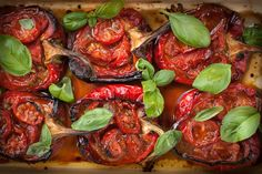 Cook delicious, sweet Piedmont Peppers at home in less than an hour. These roasted Piedmont Peppers are perfect for garden parties with friends and family. Family Recipes, Family Meals, Real Simple Recipes, Roasting Tins, Oven Roast, Antipasto, Cherry Tomatoes, Tray Bakes, Cooking Time