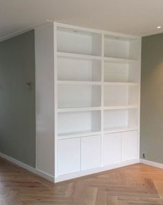 Home Library Design, House Design, Living Room Shelves, Home Office Decor, Home Decor, Office Interiors, Living Room Interior, Built Ins, Home And Living