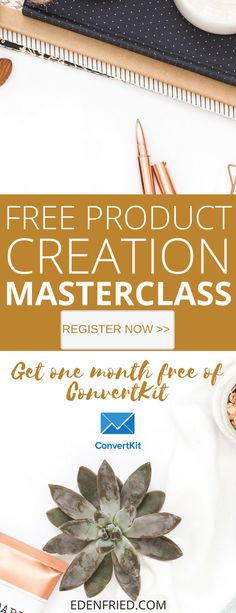 Learn how to create and launch a product in this exclusive masterclass series. Get free access to 30 days of ConvertKit! #afflink