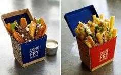 Packaging Design -A boon for cloud kitchen branding Frites Restaurant, Chips Restaurant, Restaurant Branding, Solo Restaurant, Restaurant Design, Food Branding, Food Packaging Design, Food Trucks, Food Design