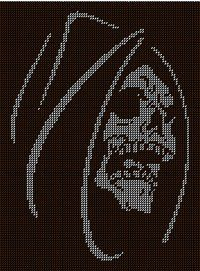 Cross Stitch Skull, Counted Cross Stitch Patterns, Cross Stitch Designs, Crochet Skull Patterns, Loom Patterns, Beading Patterns, Bobble Crochet, Crochet Cross, Skull Crafts
