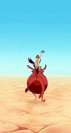 Disney's The Lion King wallpaper with Timon and Pumba. One of Disney's best classic cartoon. Worth to be watched again 😊 Film Disney, Disney Magic, Disney Art, Disney Movies, Disney Characters, Disney E Dreamworks, Disney Pixar, Disney Rapunzel, Disney Princesses