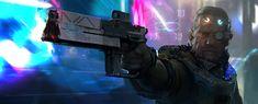 Gunslinger by LiXin Yin - Cyberpunk The Elder Scrolls, Elder Scrolls Online, Art Cyberpunk, What Is Cyberpunk, Cyberpunk Character, Character Concept, Character Art, Concept Art, Sci Fi Characters