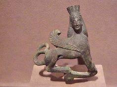 Bronze Sphinx Vase Ornament Greek 6th century BCE