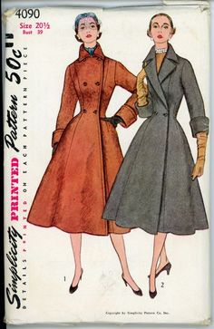 "Link is blog. Need Google translator  || Simplicity 4090 B Misses"" and Women""s Coat in Half Sizes"