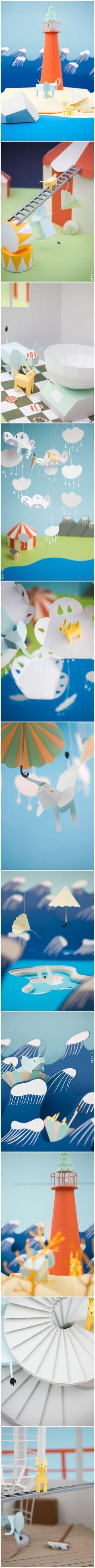 Little paper world • Petit monde de papier via surpirseDIY