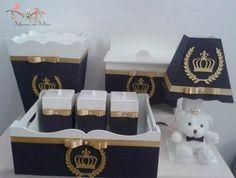 kit bebê higiene 8 peças em mdf pintado princepe provençal