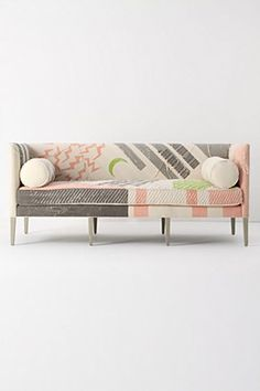 Not sure why but I LOVE this. Pink Ditte Sofa | Anthropologie.eu