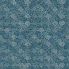 Mermaid Scales Wallpaper - Sample / Blue