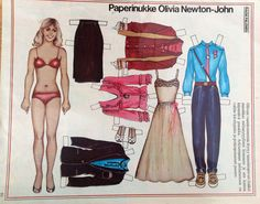 Finnish Paper doll Olivia Newton-John