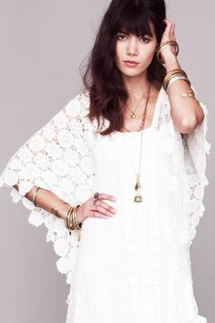 "Special Occasion – Free People released its limited edition spring collection earlier this week, featuring six white dresses evoking a bohemian spirit. Anthony Nocella captured Sheila Marquez (who recently appeared in the February catalogue with ""Girls"" star Christopher Abbott) in the style book images showcasing the elegance of the designs including special touches such as beading, fringe, and appliqués. The dresses are produced in limited quantities of only 50-100 pieces each, and come…"
