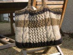 tuto pour un joli sac en tricot à torsades