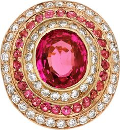 Pink Sapphire and Diamond, Ring