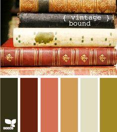 vintage tones | Color & combination | color palette | color scheme