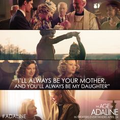 Tag your moms & daughters! Experience #Adaline together, in theaters TONIGHT at 7PM! Tickets: lions.gt/adalinetix