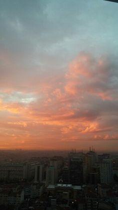 Pink-orange sky