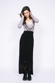 Long Sleeve Body Suit - Necklace (cute with skirt)