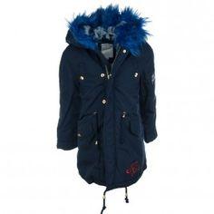 Παρκά Εβίτα 187010 Μπλε (6-16 ετών) Rain Jacket, Windbreaker, Raincoat, Jackets, Fashion, Down Jackets, Moda, Fashion Styles