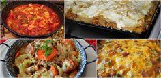 7 szuper egytálétel egy óra alatt - Receptneked.hu - Kipróbált receptek képekkel Mashed Potatoes, Grains, Rice, Ethnic Recipes, Food, Whipped Potatoes, Smash Potatoes, Eten, Seeds