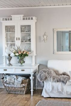 Shabby Chic. I like old furniture that has been refurbished modern and you can never go wrong with flowers.