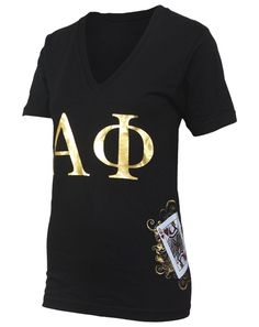 Adam Block Design » Alpha Phi Queen Of Hearts V-neck