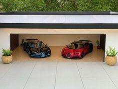 "Miniature Homes on Instagram: ""Miniature House 1/18 Scale  Diecast Model - 1/18 Bugatti  Chiron . . #diorama #dioramadiecast #diecastphotography #architecturephotography…"""