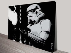 Pop Art Canvas print of a stormtrooper from Star Wars.This Star Wars Art is available as a canvas print, stretched canvas or printed on paper or canvas.