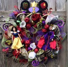 Snow White Party, Snow White Decor, Snow White Wreath, Disney Inspired Wreath, Just One Bite My Pretty on Etsy, $159.00