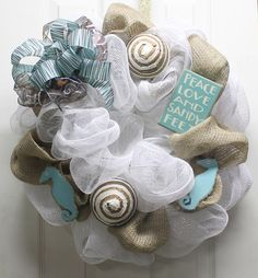 Summer Beach Mesh Wreath