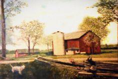 Barn Landscape Painting