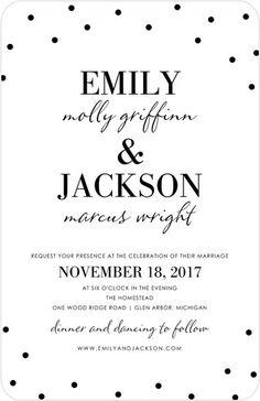 Fun polka dot wedding invitation
