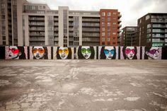 The Magnificent 7 in Dublin, Ireland by Fin Dac   explore street art of the…