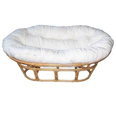 Double Papasan - Natural Frame - Calico And Dacron Cushion Double Papasan Chair, Papasan Cushion, Online Furniture, Home Furniture, Furniture Design, Outdoor Folding Chairs, Chair Pictures, Commercial Furniture, Rattan Furniture